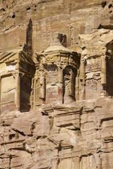 Royal tombs. The Monastery Petra in Jordan