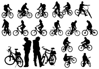 Wall Mural - Cyclists