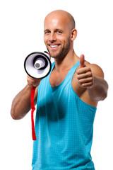 Personal Trainer beim motivieren