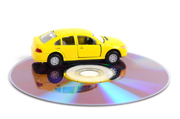 DVD and toy car