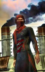 steampunk arab warrior