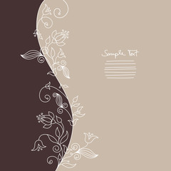 Floral Card White Flowers