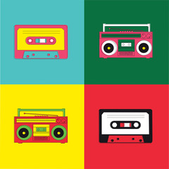 Pop Art Radio Cassette
