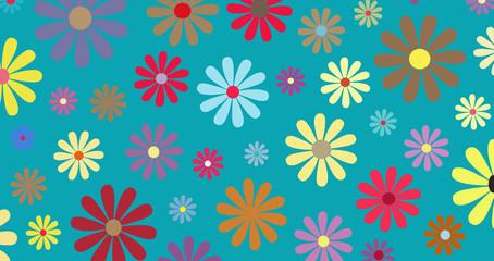 Retro Floral illustration