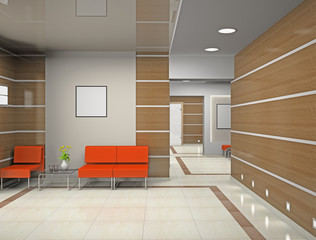 Hall a modern office