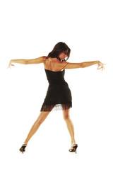 Chica española bailando flamenco