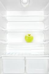 Apple in fridge.
