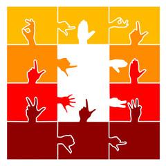 logo puzzle hände
