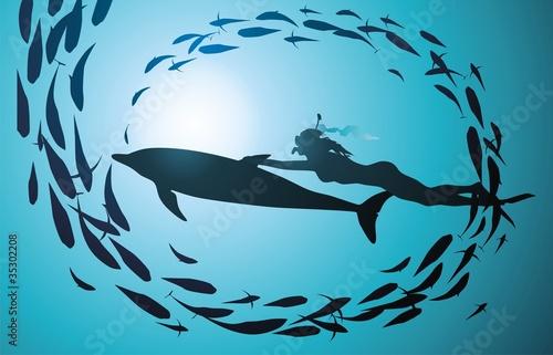 рыбалка с помощью дельфинов