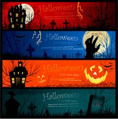 Halloween invitation banners