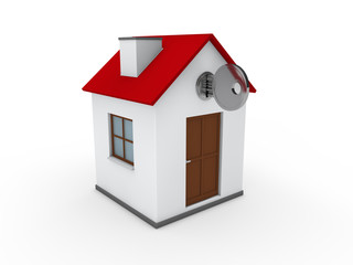 3d house key red