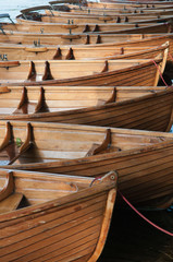 Rowing Boats in a row