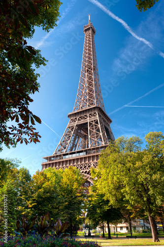 Wall mural Tour Eiffel Paris France