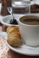 Greek coffee and cookie.