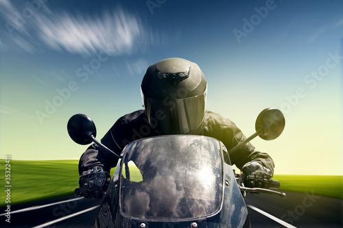 Wall mural Speeding Motorbike