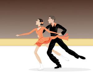 ice dancers