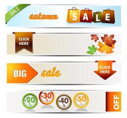 Collection of Autumn Sales Banners
