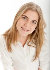 Cute blonde teenager