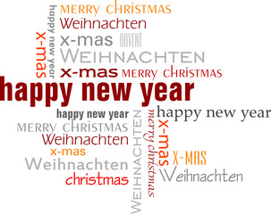 Text Collage happy new year