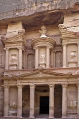 Treasury, Al-Khazneh, close up. The Monastery Petra in