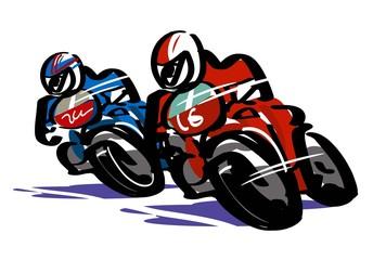 Keuken foto achterwand Motorfiets オートレース