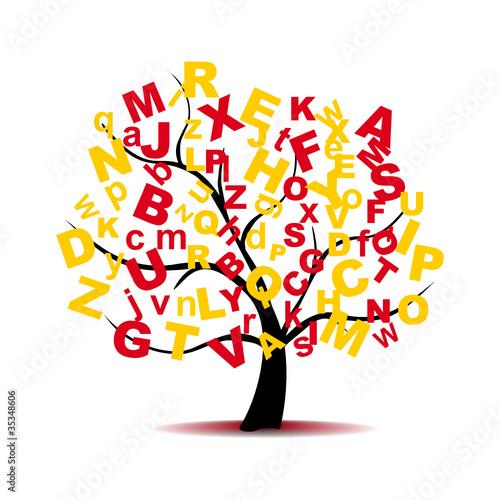 arbol de letras abecedario im genes de archivo y