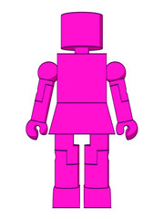 Block Figure Woman