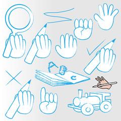 handzeichung - symbole