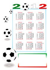 Calendario calcio 2012
