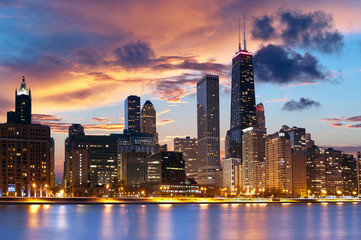 Canvas Prints Chicago Chicago Skyline