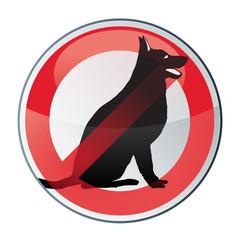 panneau: interdit aux chiens