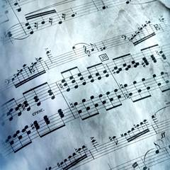 Spartito musicale retro
