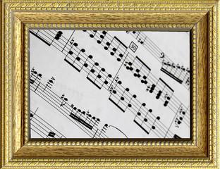 Spartito musicale incorniciato