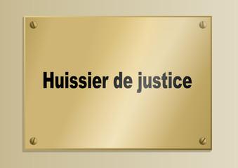 Plaque_Metier_Huissier