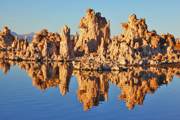 The reefs -Tufa. Sunset