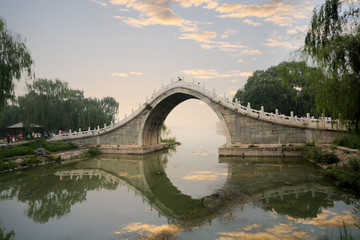 stone arch bridge in summer palace