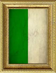 Foto op Aluminium Algerije Bandiera dell'Algeria incorniciata