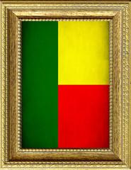Bandiera del Benin incorniciata
