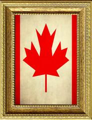 Bandiera del Canada incorniciata