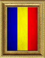Bandiera del Ciad incorniciata