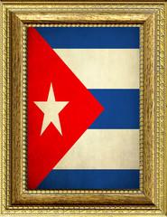 Bandiera di Cuba incorniciata