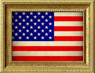 Bandiera degli Stati Uniti incorniciata
