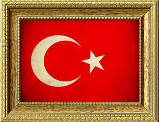 Bandiera della Turchia incorniciata