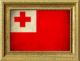 Bandiera del Tonga incorniciata
