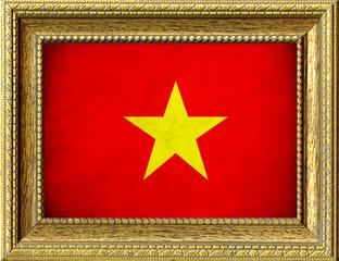 Bandiera del Vietnam incorniciata