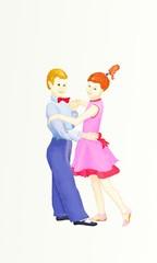 рисунок танцующих детей