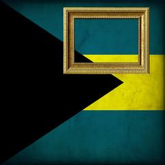 Bandiera delle Bahamas con cornice personalizzabile