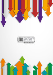 Abstract arrows background. Vector