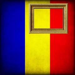 Bandiera del Ciad con cornice personalizzabile