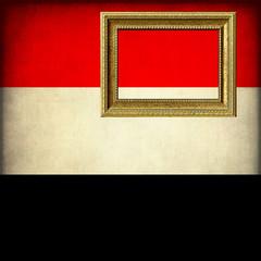 Bandiera dell'Egitto con cornice personalizzabile